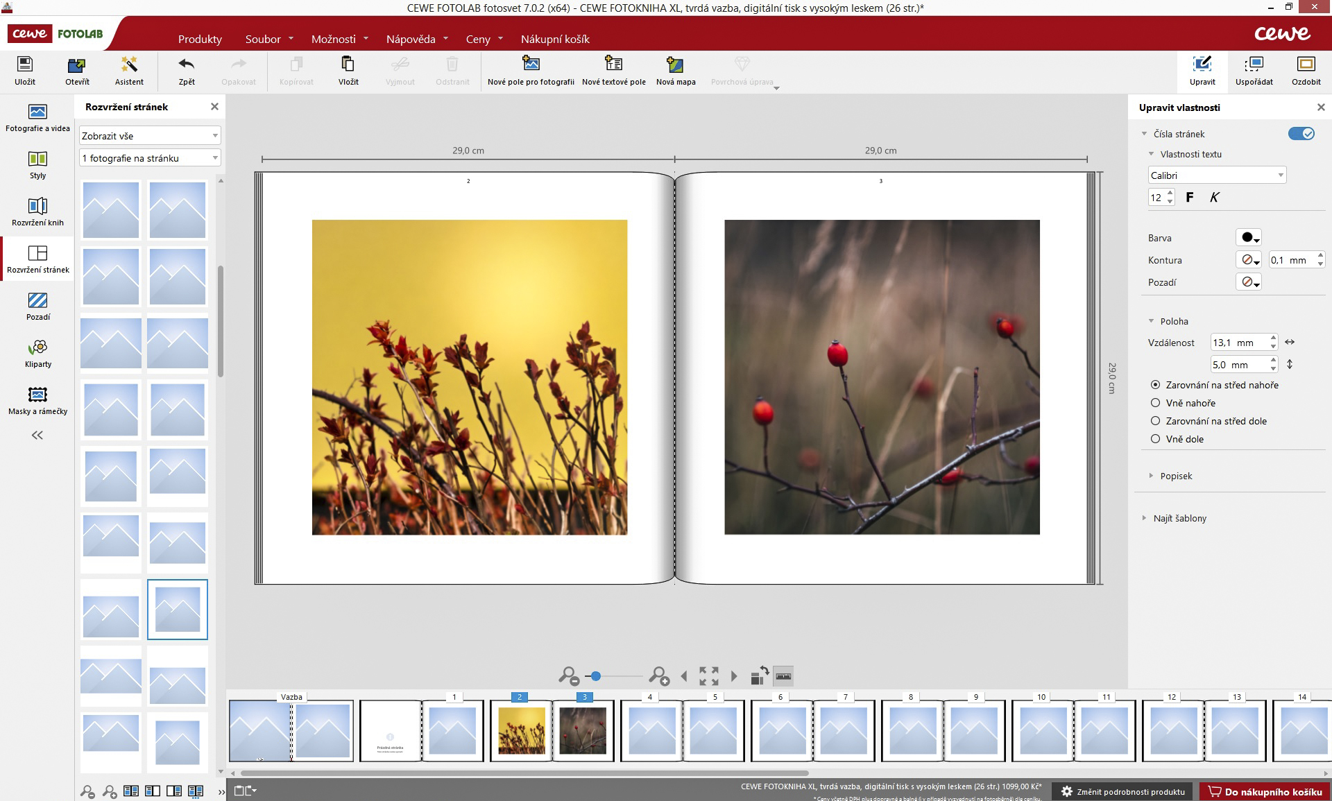 CEWE FOTOKNIHA, fotokniha, editor, program.