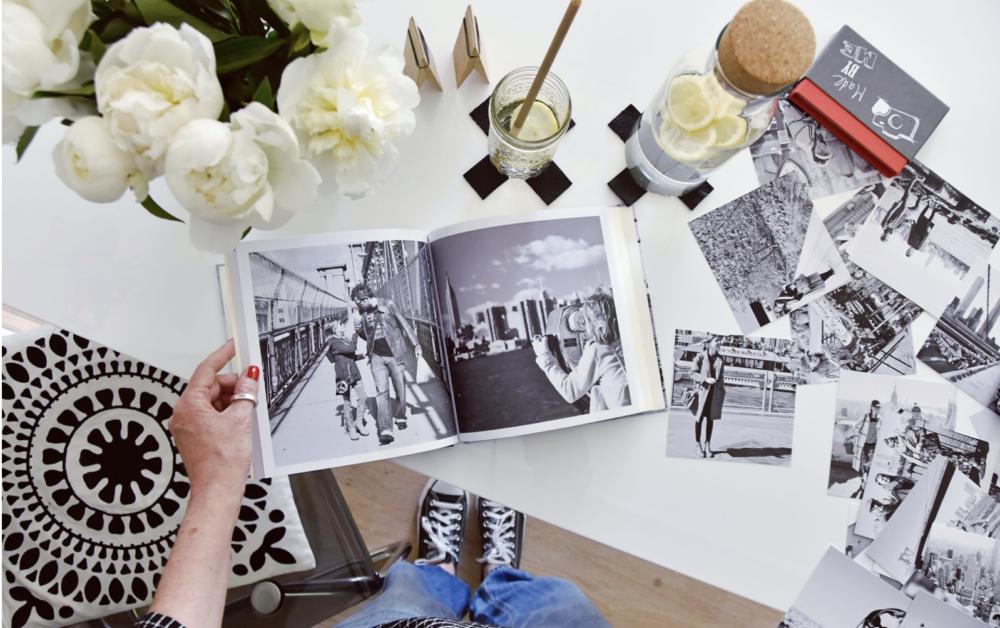 fotokniha, černobílá