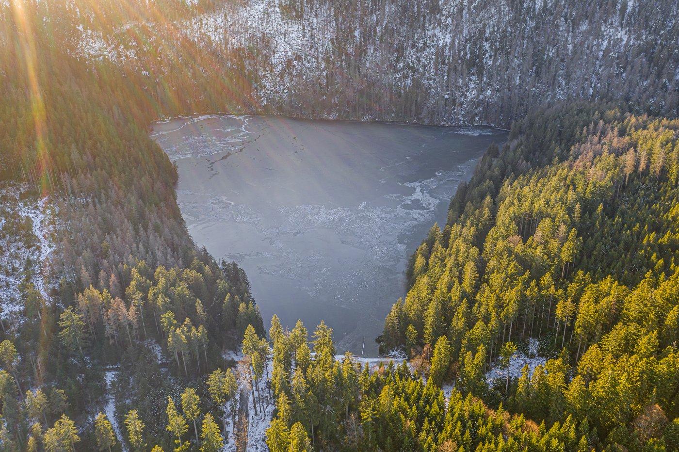 Černé jezero, Šumava