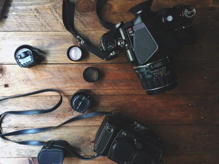 fotoaparát, film, analog