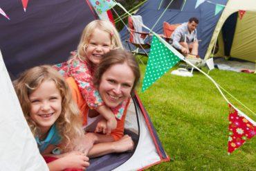 léto, camping, rodina