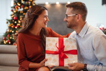 dárek, vánoce, muž