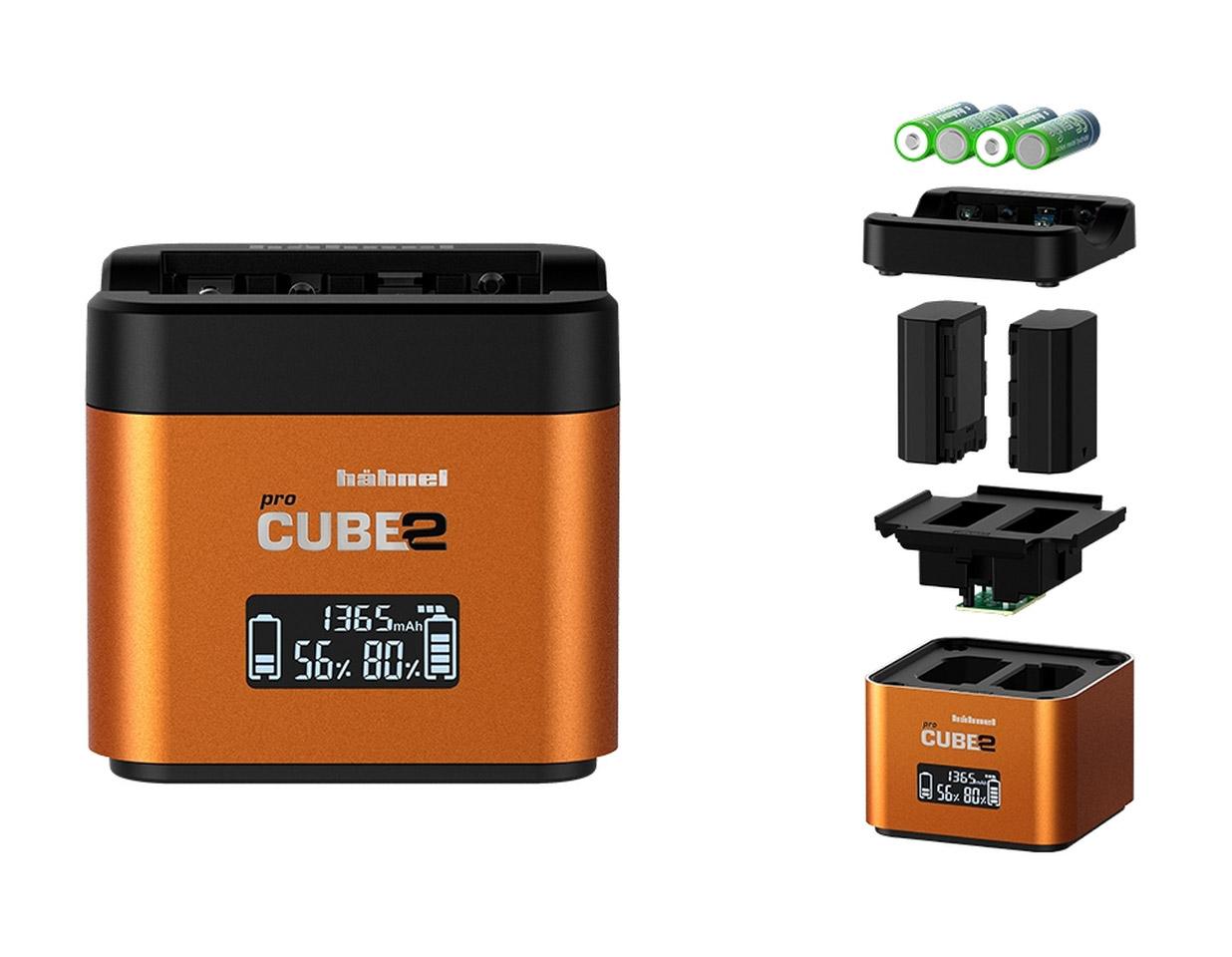 Hahnel proCUBE 2 a adaptér pro nabíjení AA baterií