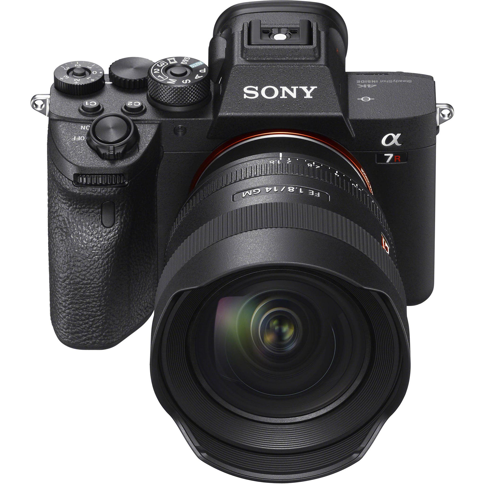 Sony A7R IV s nasazeným Sony FE 14mm f/1.8 GM