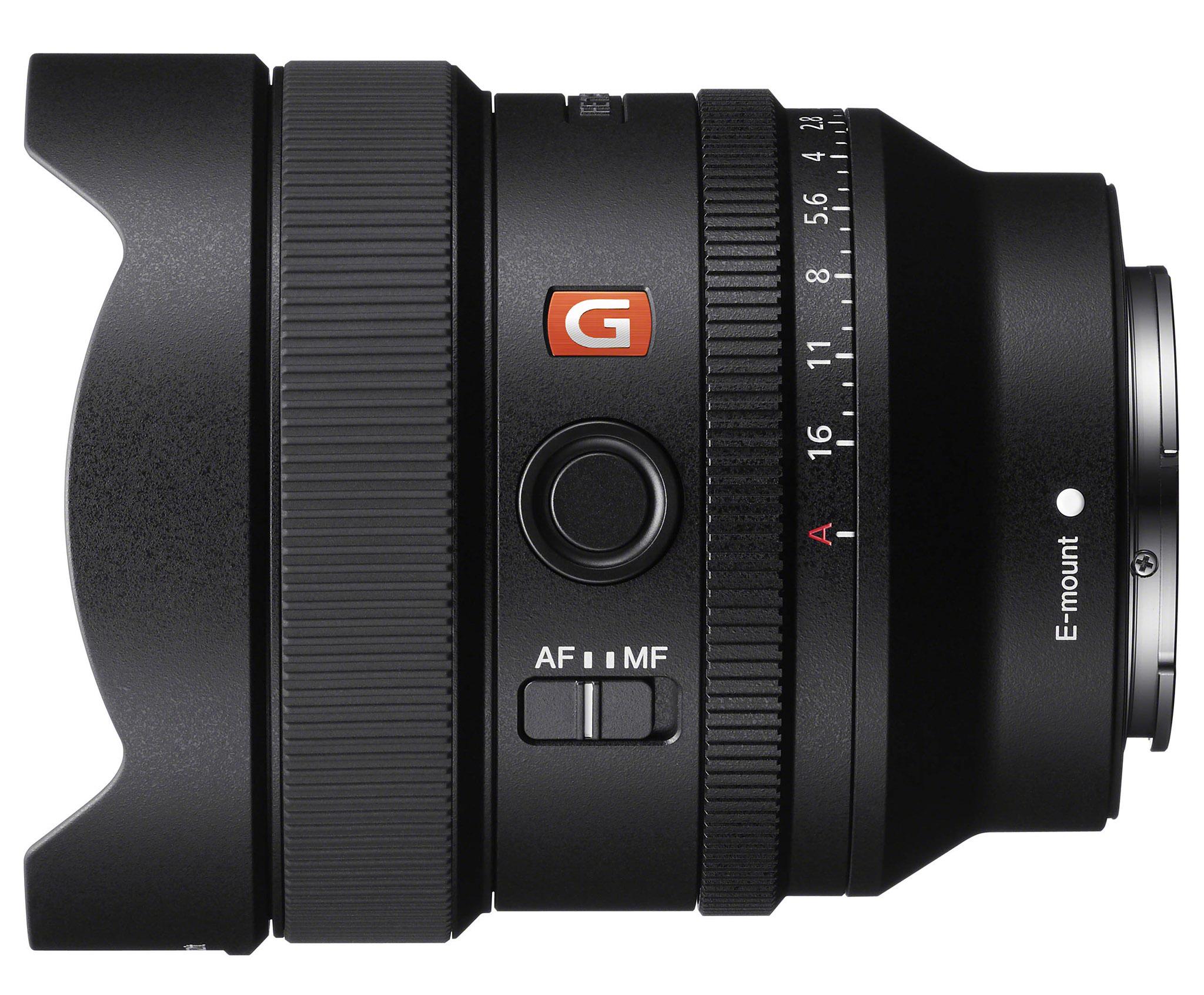 Sony FE 14mm f/1,8 GM má i přepínač AF/MF, na Fn tlačítko nastavíte vlastní funkci