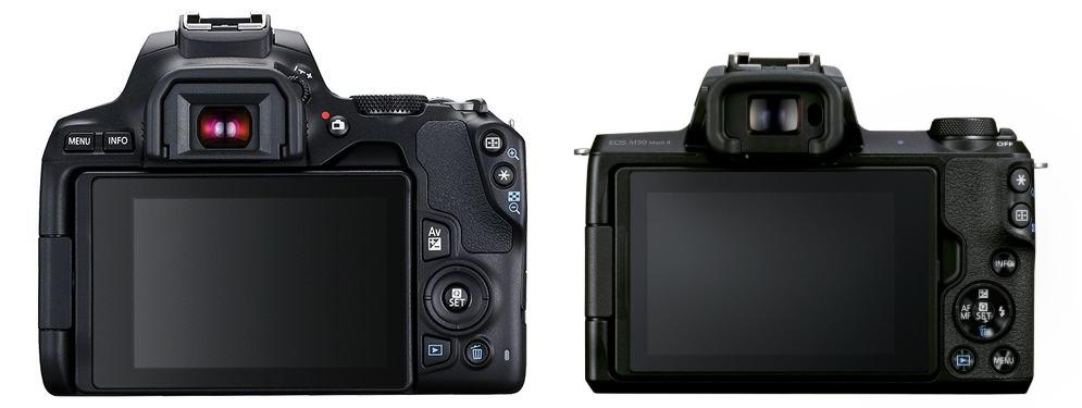 250D vs M50 ovládání