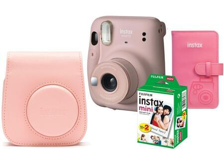 Fujifilm INSTAX Mini 11 růžový + pouzdro + album + COLORFILM Instax Mini (20ks)