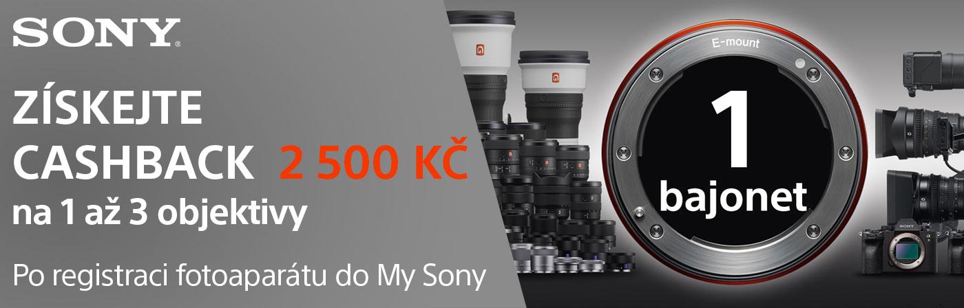 Sony cashback na objktivy